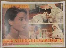 NUN'S STORY AUDREY HEPBURN MOVIE POSTER  ITALIAN 1959 B Linenbacked