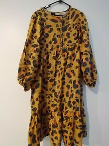 Kip And Co For Cotton On Kids Maxi Dress Leopard Print New