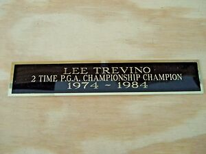 Lee Trevino 2X PGA Champion Nameplate For A Golf Ball Or Golf Flag Case 1.25 X 6