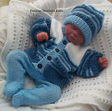 DK Baby Knitting Pattern 40 TO KNIT Boys Girls or Reborns Cardigan Hat Leggings