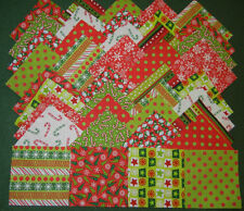 40 christmas group 1---4x4 fabric squares quilt blocks