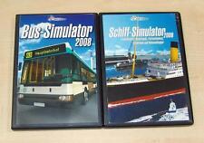 2 PC SPIELE SET - BUS SIMULATOR 2008 & SCHIFF SIMULATOR 2006