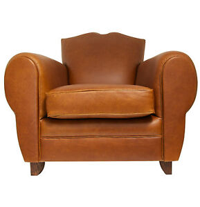 New Hand Built Moustache Club Armchair in Leather