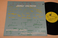 JAMES DASHOW LP AVANT GARDE CONTEMPORARY COMPUTER MUSIC 1°ST ORIG ITALY NM !!