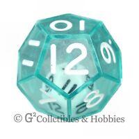 NEW Green Double Dice RPG Gaming D12 Twelve Sided Die