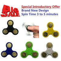 HAND SPINNER TRI FIDGET CERAMIC BALL for ANXIETY ADHD STRESS RELIEF ADULTS