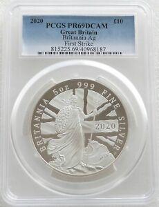 2020 Royal Mint Britannia £10 Ten Pound Silver Proof 5oz Coin PCGS PR69 DCAM FS