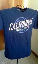 Tee T Shirt CALIFORNIA WEST COAST Souviner Blue Large L