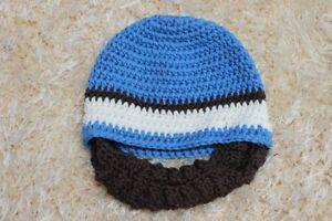 New Knit Crochet Infant Baby Child Kids Full Beard Hat Cap Beanie 0-5 Year Gift