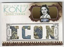 2008 LANA TURNER DONRUSS CELEBRITY CUTS HOLLYWOOD ICONS MOVIE TC WORN RELIC #/10