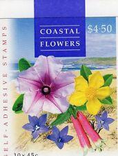1999 AUSTRALIAN COASTAL FLOWERS STAMP BOOKLET 10 x 45c STAMPS MUH