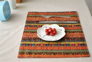 Table Cloth Quality Home Essential Double Deck Mat Ethnic Style Restaurant Mat