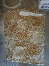 """Pottery Barn """"Camilla Damask - Wheat Gold"""" Linen Drape Panels 50 X 84 - 2 Panels"""