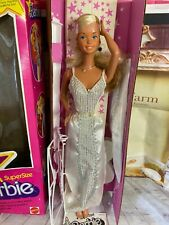 VINTAGE SUPER  SIZE BARBIE  SUPER STAR BARBIE LARGE. NRFB UNPLAYED WITH MATTEL