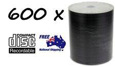 600 x DVD-R/DVDR Blank Disk/Disc PLAIN WHITE INKJET PRINTABLE SURFACE 600pcs,Pk