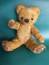 Antique Teddy Bear Chad Valley  Golden Mohair Glass Eyes Fully Jointed 1950's