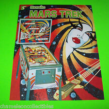 Sonic MARS TREK Original 1977 Flipper Game Pinball Machine Flyer Space Age SciFi
