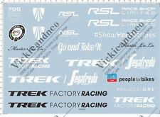 Universal TREK factory racing rsl race shop limited bicycle Mdoel Water Decal