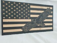 "19"" American Flag Flying Eagle handgun concealment cabinet hidden gun storage"