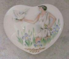 Noritake 1973 Valentine'S Day Heart 1st in Series / Boy Holding Dove Ltd Edit