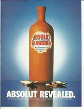 ABSOLUT REVEALED. - 1999 Absolut Mandarin Vodka print ad