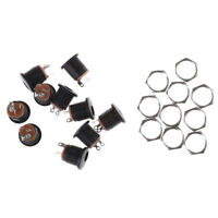 10pcs 2.5mm x 5.5mm DC Power Female Jack Socket Panel Chasis Mount Connector new