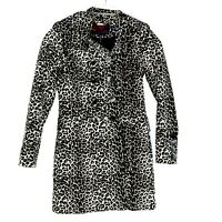 Buffalo David Bitton Women's Leopard Pattern Trench Coat Elegant Size Small CL