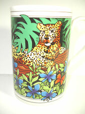 Dunoon Leopard Stoneware Mug Kenya designed by Ruth Boden Made in Scotland