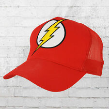 Logoshirt Mesh Trucker Cap DC Flash Logo Stick rot Truckercap Kappe Mütze Cappy