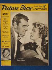 Picture Show Magazine - 23/3/1957 -  Jack Hawkins & Arlene Dahl Cover