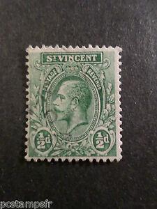 ST VINCENT, timbre CLASSIQUE GEORGE V, 1/2 p., oblitéré, cancelled CLASSIC STAMP