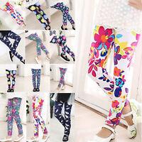 Cute Girls' Colorful Skinny Leggings Casual Kid's Stretchy Pants Trousers 4-14Y