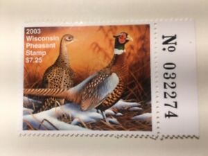 US STAMP 2003 Wisconsin Pheasant, Mint NH