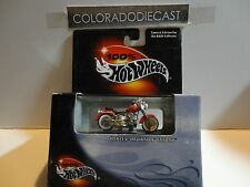 Hot Wheels 100% Black Box Red Harley Davidson Fatboy Motorcycle