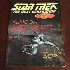 KLINGON BATTLE CRUISER Make Your Own Starship STAR TREK MODEL Cardboard Kit Cmpl