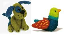 Lot of 2 Felted Character Needle Felting Kits  PUPPY DOG ~ BIRD