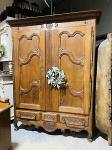 French Provincial Louis XV Style Wardrobe, Armoire