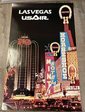 "Vintage US AIR Poster Las Vegas 22"" x 34 1/2"""