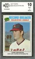 Nolan Ryan Card 1977 Topps #234 California Angels (Centered) BGS BCCG 10
