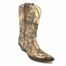 Women's Corral Tabaco Sharpey Western Boots Cowgirl Shoes Size 6.5M Brown Q13