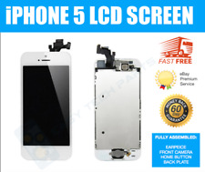 Blanco IPHONE 5 LCD Pantalla Digitalizador Ensamblado IC OEM Calidad Recambio