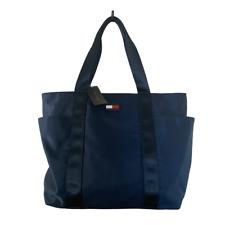 New Tommy Hilfiger Womens Handbag Tote Shoulder Bag Blue Nylon