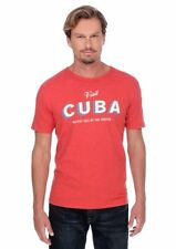 Lucky Brand - NWT - Mens M - Red Holiday Isle of the Tropics Cuba Cotton T-Shirt