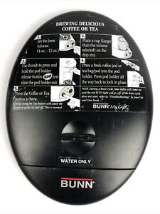 BUNN MCA My Cafe Pourover Commercial Coffee Replacemen part - Sliding Lid FSTSHP