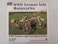 Book: World War II German Solo Motorcycles in Detail