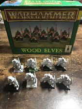 8 X Wood Elves - Vintage Plastic Warhammer Fantasy Battle, Oldhammer