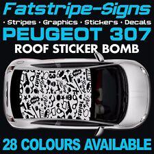 Peugeot 307 Graphique rayures autocollants stickers GTI Pug Estate CC 1.4 1.6 2.0 D HDI