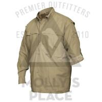 Drake Waterfowl DW292080 Short Sleeve Youth Wing-Shooter/'s Shirt Khaki