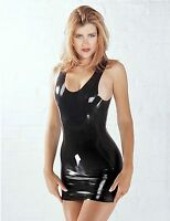 Sharon Sloane Latex Mini Dress Sexy Lingerie Rubber Shiny Wet Look