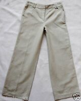 BNWT NEXT new Ladies Beige Linen Cotton Blend Tailored Wide leg smart trousers